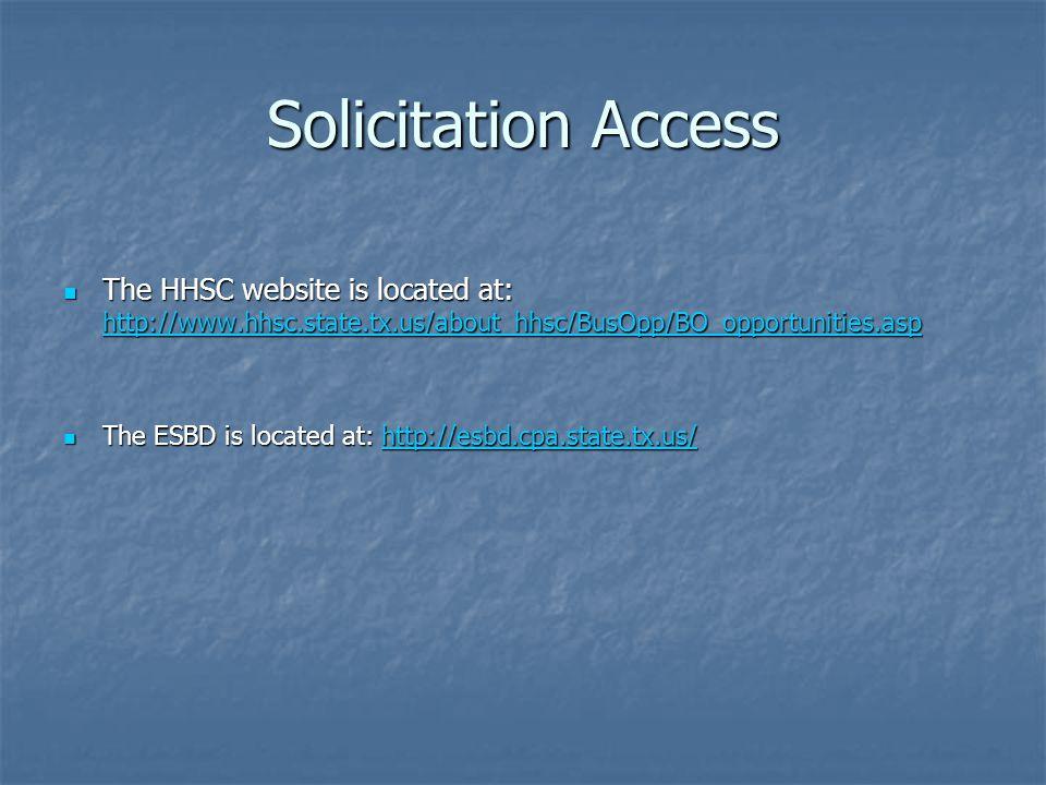 HUB Participation Requirements HSP Methods
