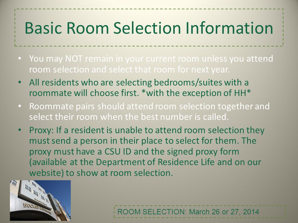Room Selection...Everything you want/need to know.
