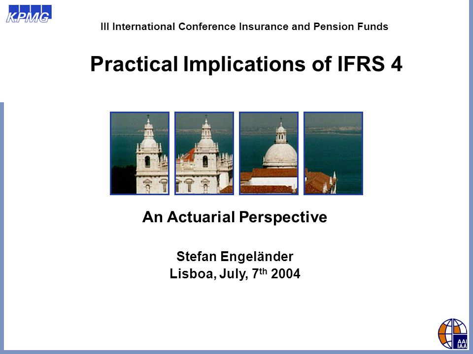 © 2004 KPMG Stefan Engeländer – III International Conference Insurance and Pension Funds 12 Significant Insurance Risk Events of commercial substance: Normally clear, anything where market participants are willing to pay for Premiums charged explicitly for that risk where market participants take effort to avoid/reduce risk Effective risk examination at outset Taking (re-)insurance for protection