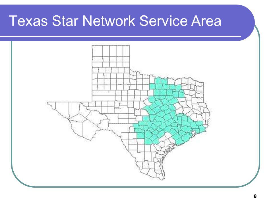 8 Texas Star Network Service Area