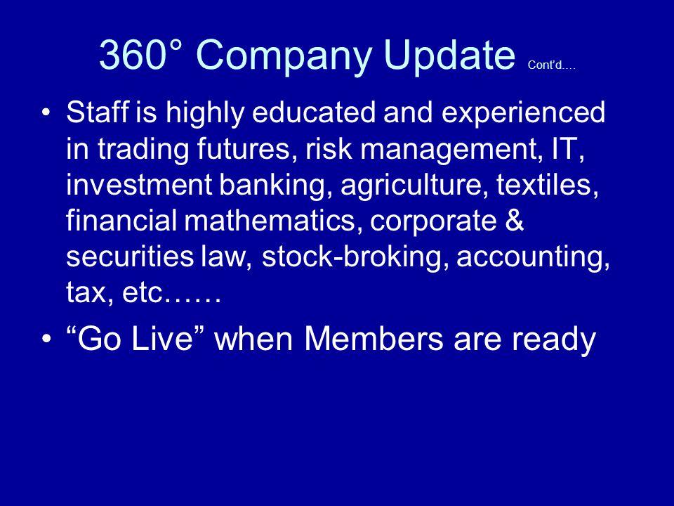 360° Company Update Contd….