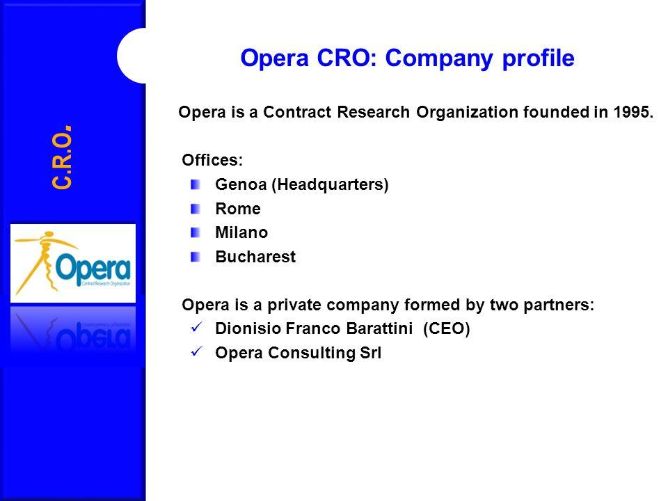 Opera CRO: Company profile C.R.O.