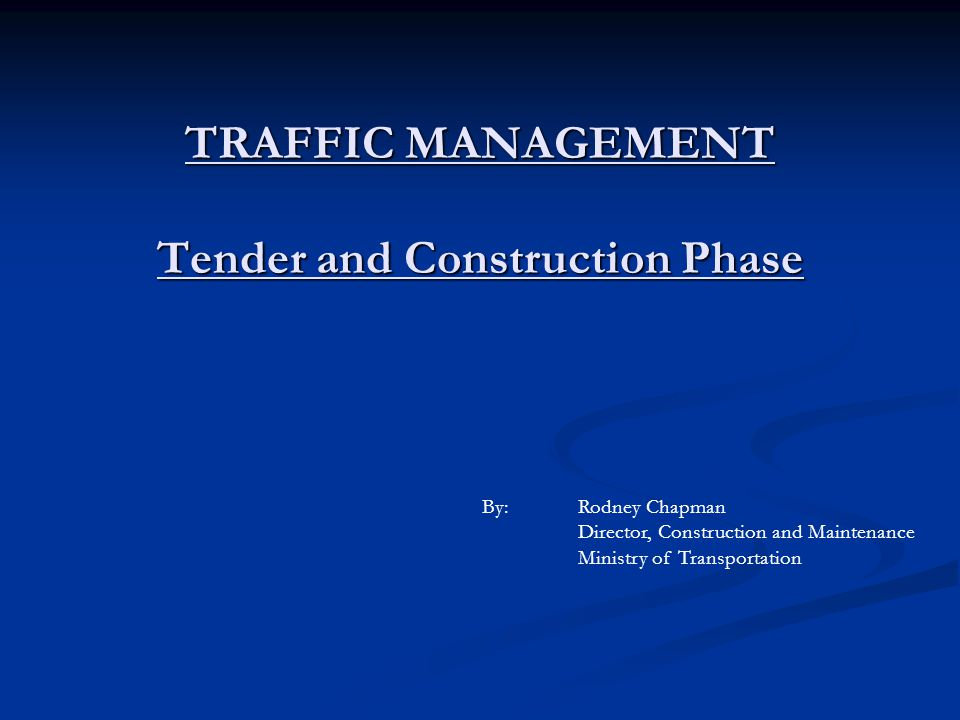 Bonus/Penalty Contract Provision: Closure Windows and/or Traffic Delays - for implementation of TMP; to keep to contractual requirements – closure window or traffic delay.