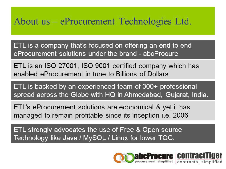 About us – eProcurement Technologies Ltd.