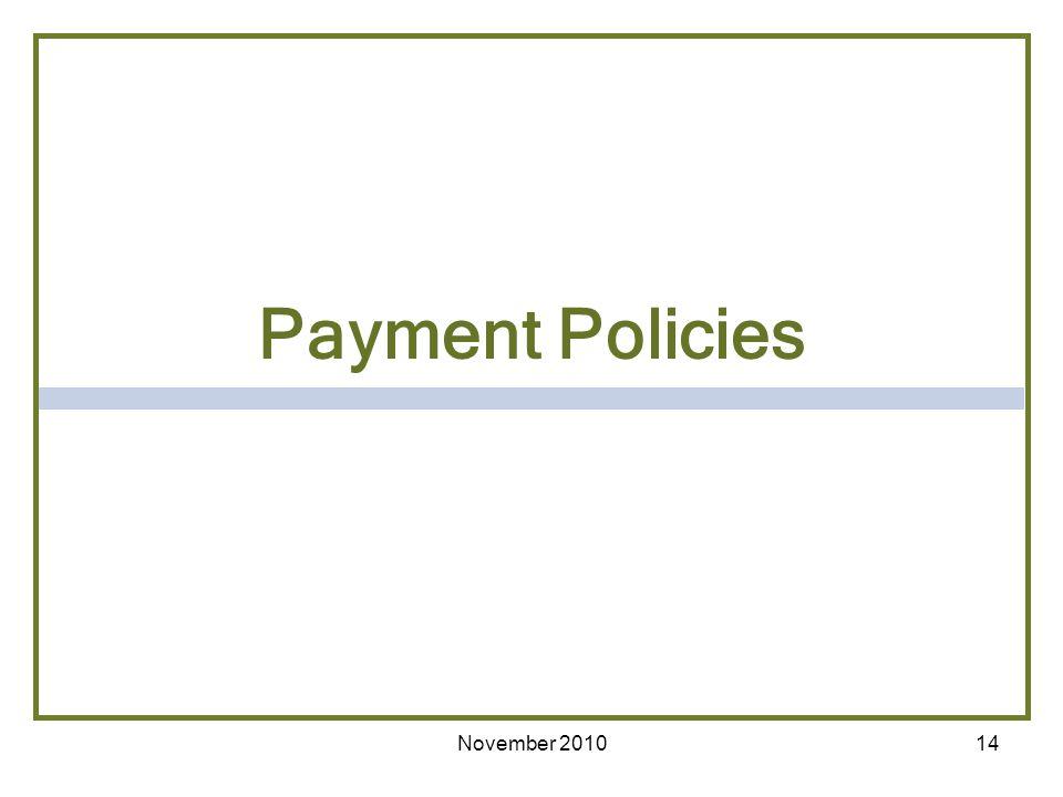 14 Payment Policies