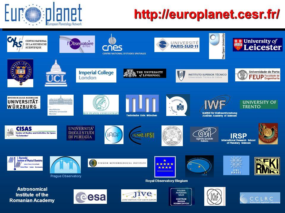 I3/CA Europlanet - EC Contract 001637 - http://europlanet.cesr.fr/http://europlanet.cesr.fr/ Prague Observatory Technische Univ.