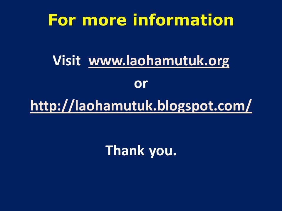 For more information Visit www.laohamutuk.org or http://laohamutuk.blogspot.com/ Thank you.