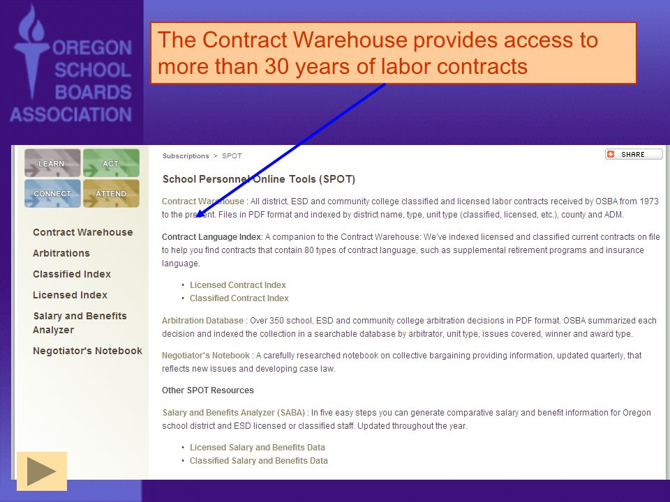 The Contract Warehouse provides access to more than 30 years of labor contracts
