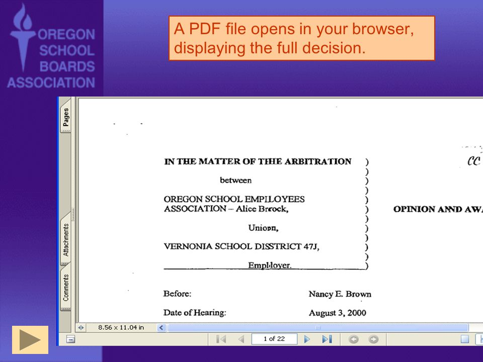 A PDF file opens in your browser, displaying the full decision.