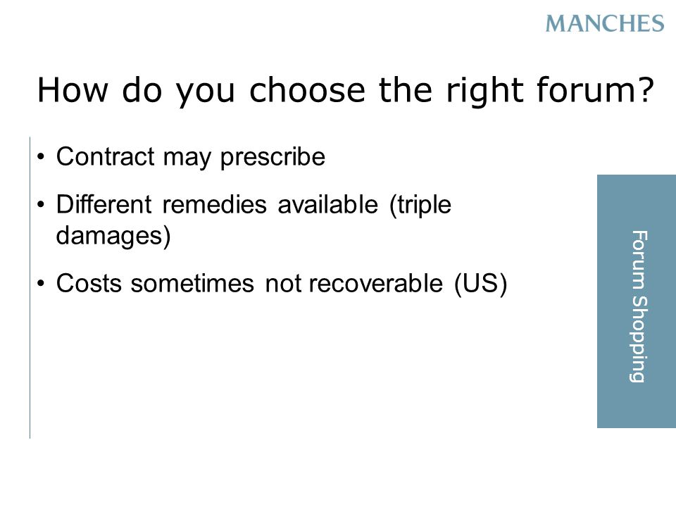 How do you choose the right forum.