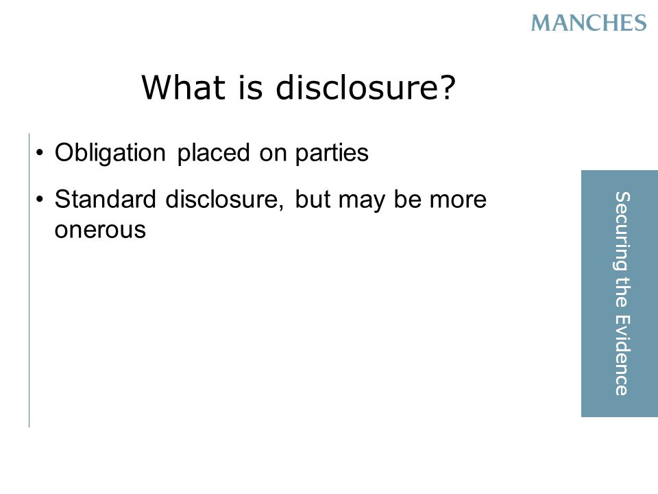 What is disclosure.