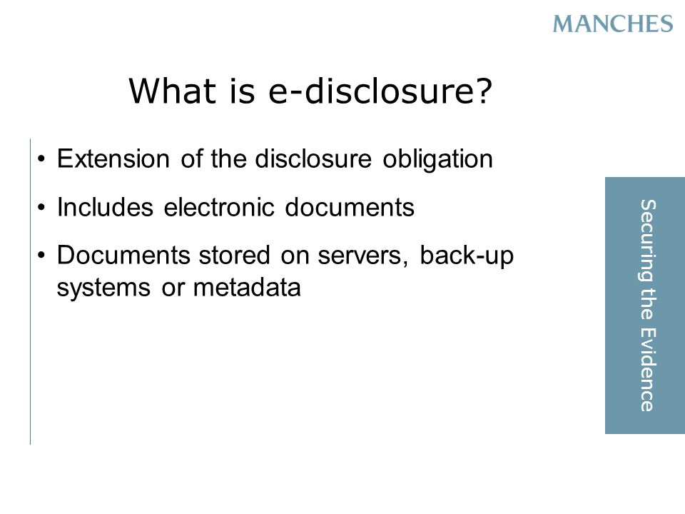 What is e-disclosure.