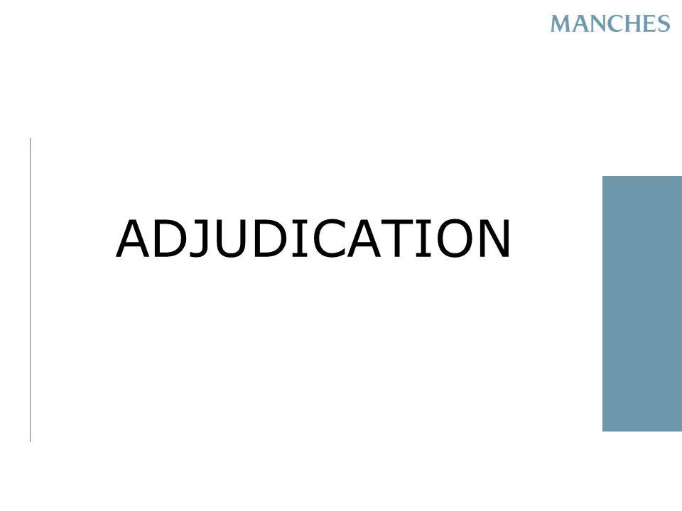 ADJUDICATION
