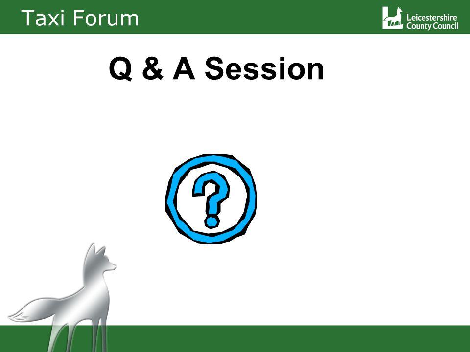 Taxi Forum Q & A Session