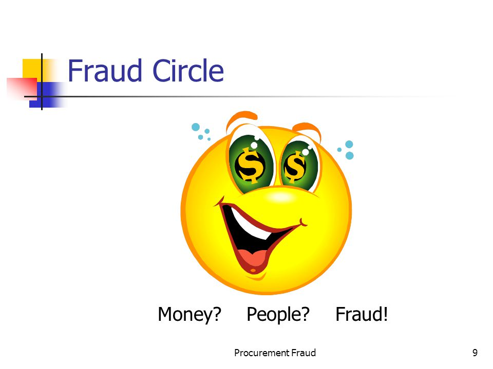 Procurement Fraud9 Fraud Circle Money? People? Fraud!