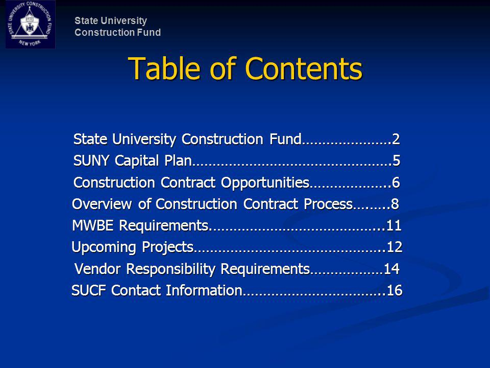 State University Construction Fund 12 Sampling of Construction Projects in 2010 RegionCampusProject TitleEst.