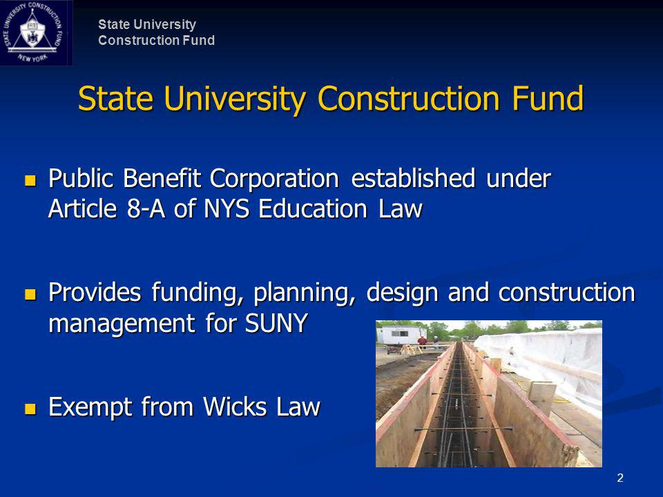 State University Construction Fund Sampling of Construction Projects in 2010 (continued) RegionCampusProject TitleEst.