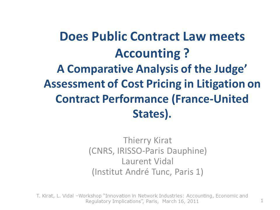 Does Public Contract Law meets Accounting .