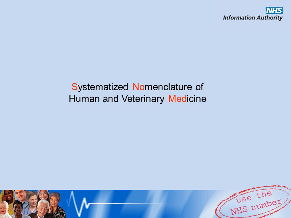 Systematized Nomenclature of Human and Veterinary Medicine
