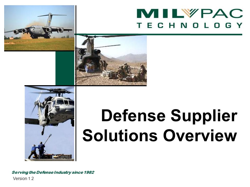 www.milpac.com Challenges of Defense Suppliers Radio Frequency Identification RFID Unique Identification UID Wide Area Workflow WAWF