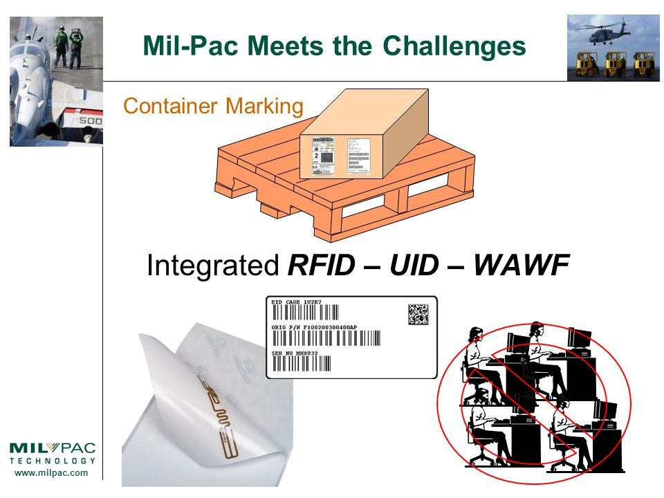 www.milpac.com Mil-Pac Meets the Challenges Container Marking Integrated RFID – UID – WAWF