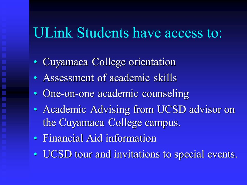 Who is eligible for ULINK.