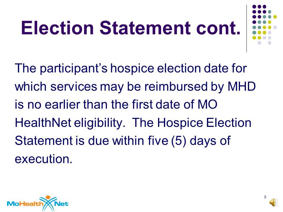 9 Election Statement cont.