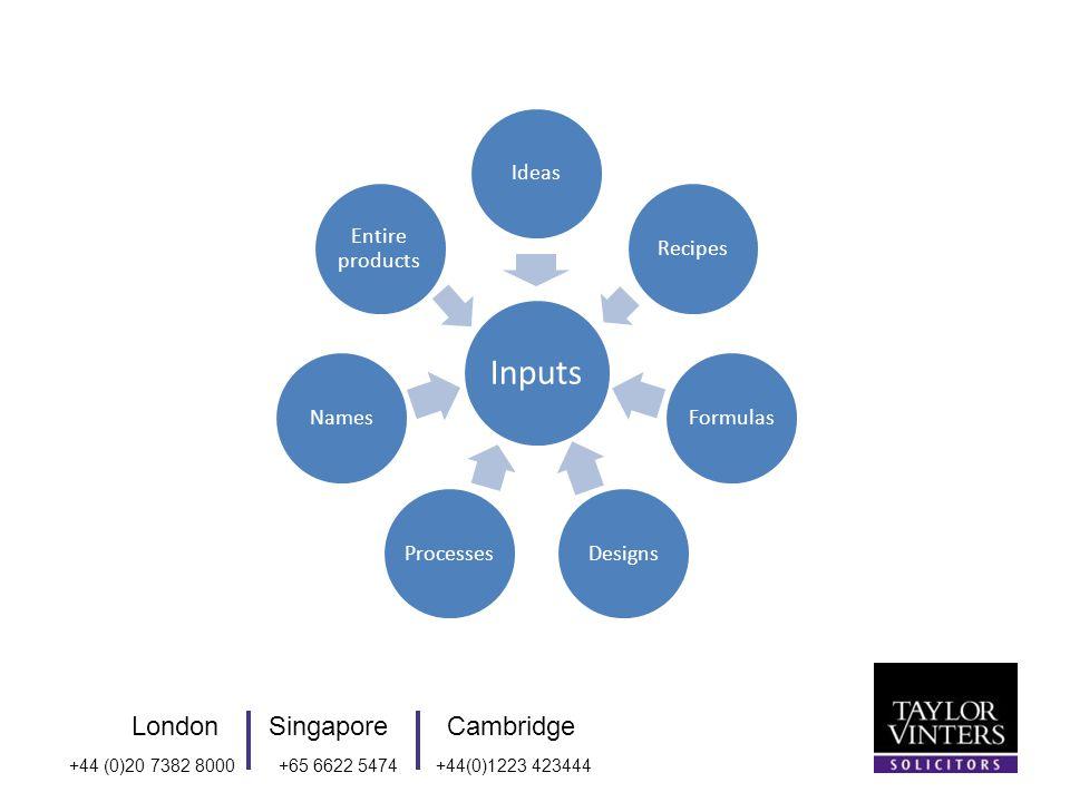LondonSingaporeCambridge +44 (0)20 7382 8000+65 6622 5474+44(0)1223 423444 Inputs IdeasRecipesFormulasDesignsProcessesNames Entire products