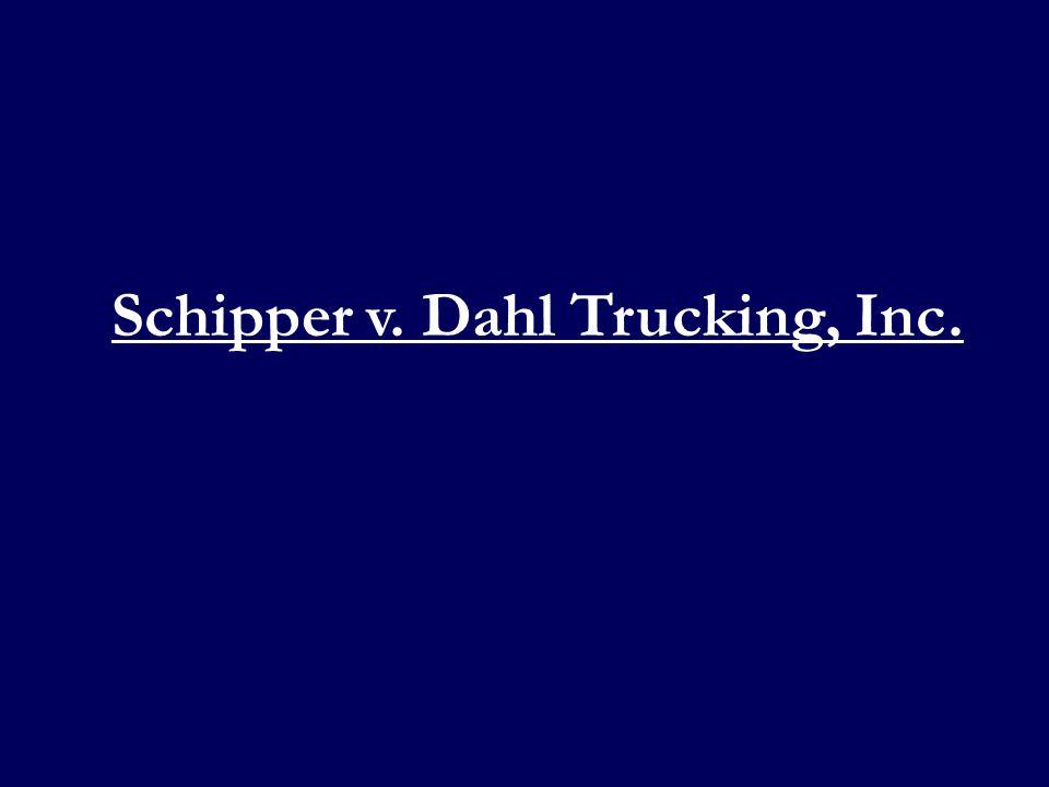 Defendant Chad Jongbloedt – employee of Defendant Dahl Trucking Inc.