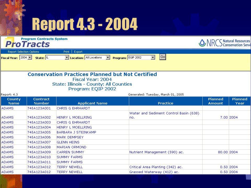 Report 4.3 - 2004