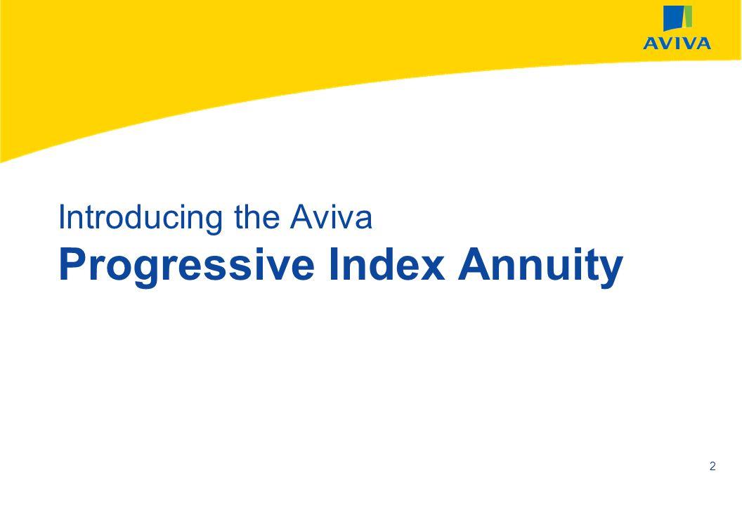AVIVA SEPTEMBER 2002 2 Introducing the Aviva Progressive Index Annuity