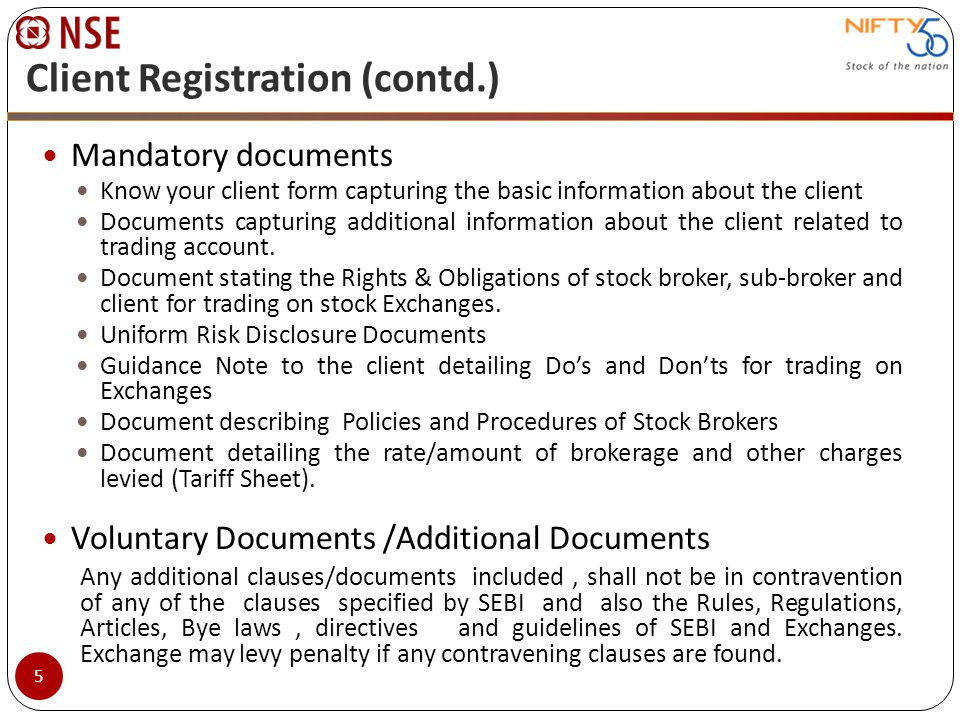 Margin Requirements (contd.) Bank guarantees and Fixed deposits received towards margin, issued by approved banks and discharged in favour of the member.