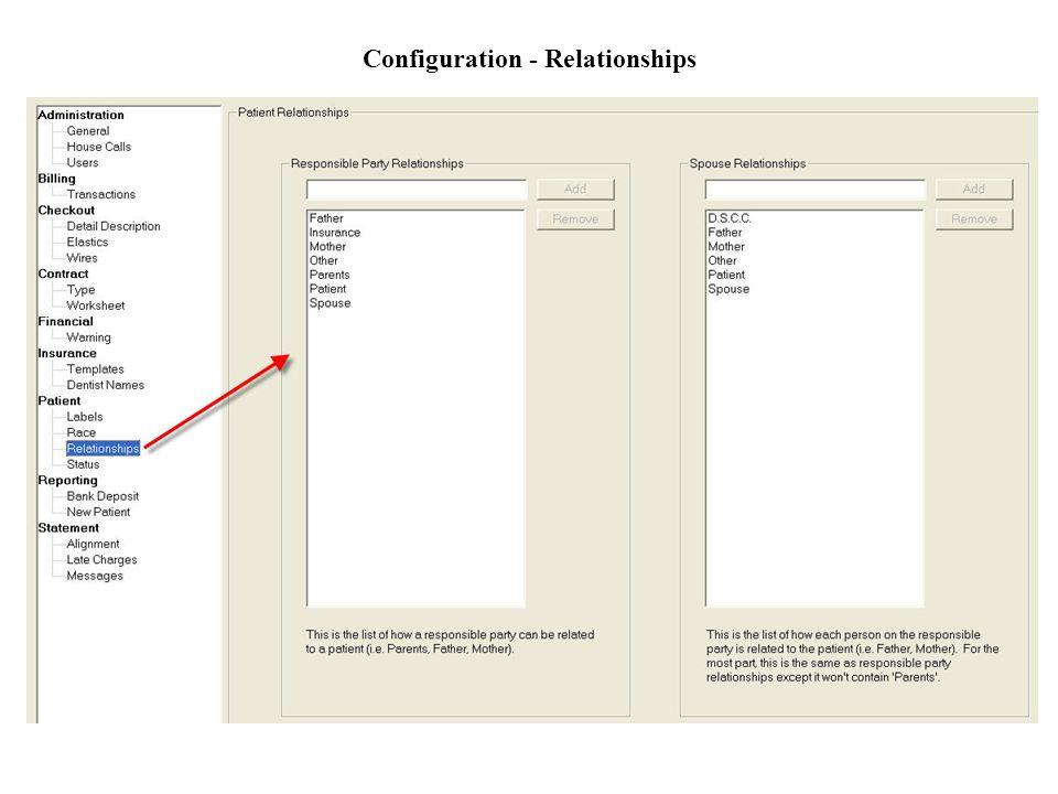 Configuration - Relationships