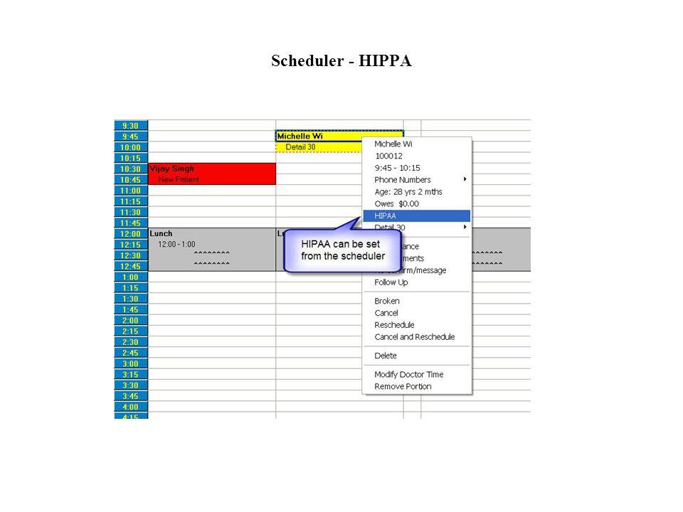 Scheduler - HIPPA