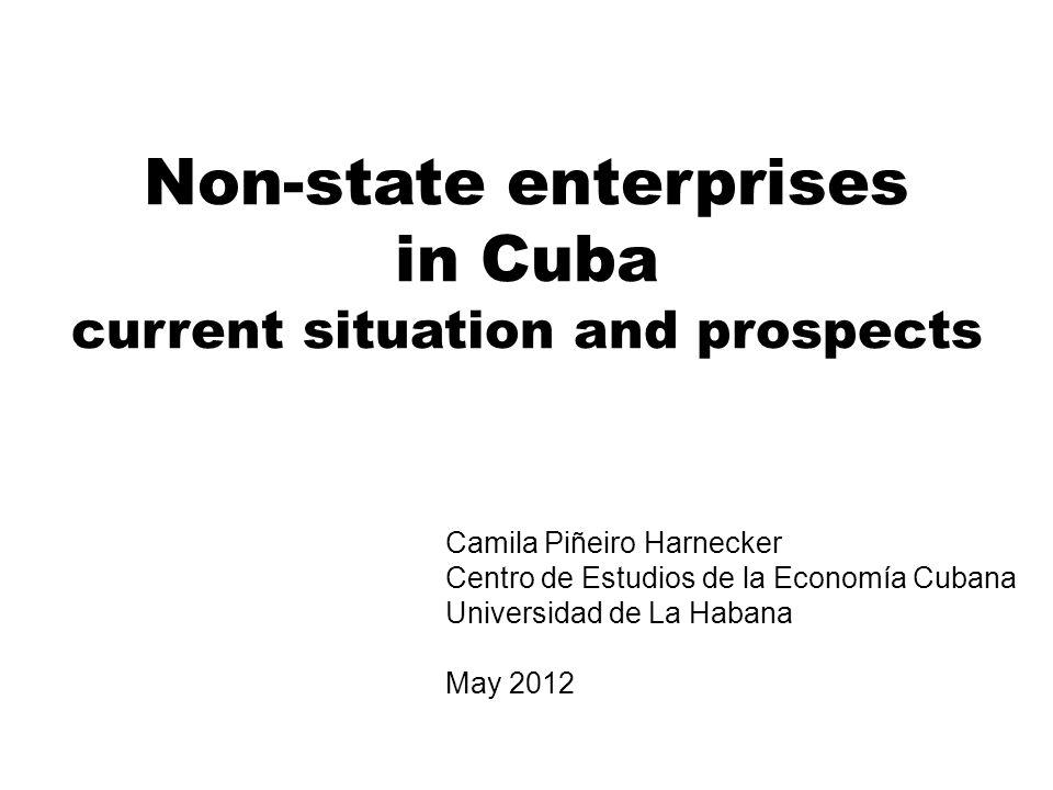 Non-state enterprises in Cuba current situation and prospects Camila Piñeiro Harnecker Centro de Estudios de la Economía Cubana Universidad de La Habana May 2012