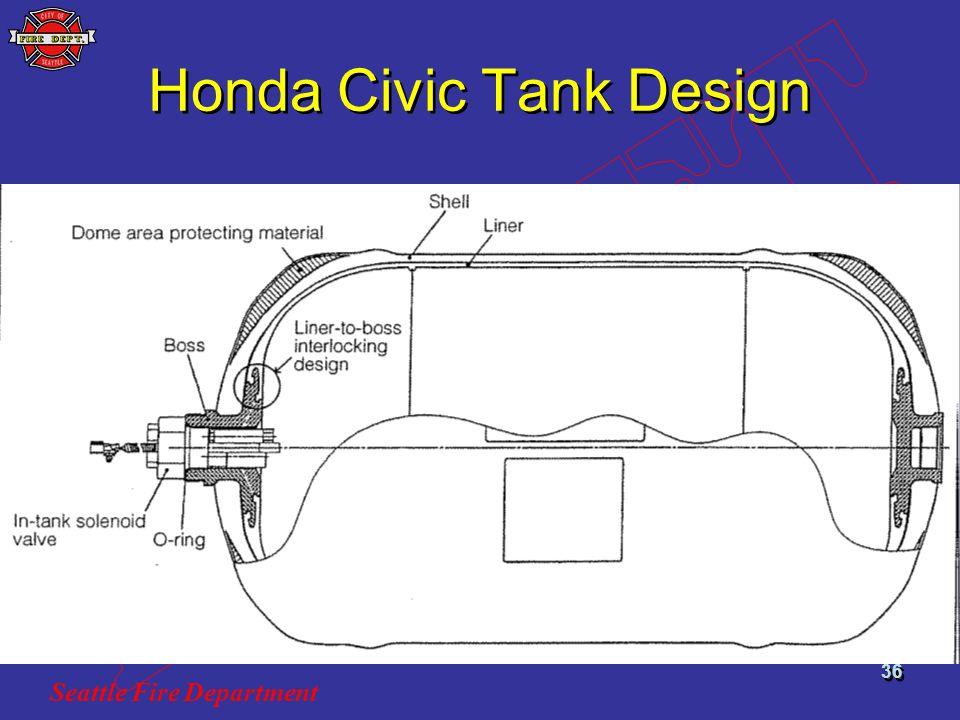 Seattle Fire Department 36 Honda Civic Tank Design