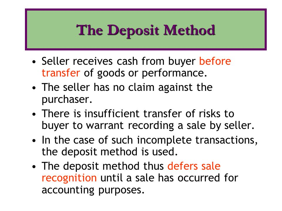 Seller receives cash from buyer before transfer of goods or performance.