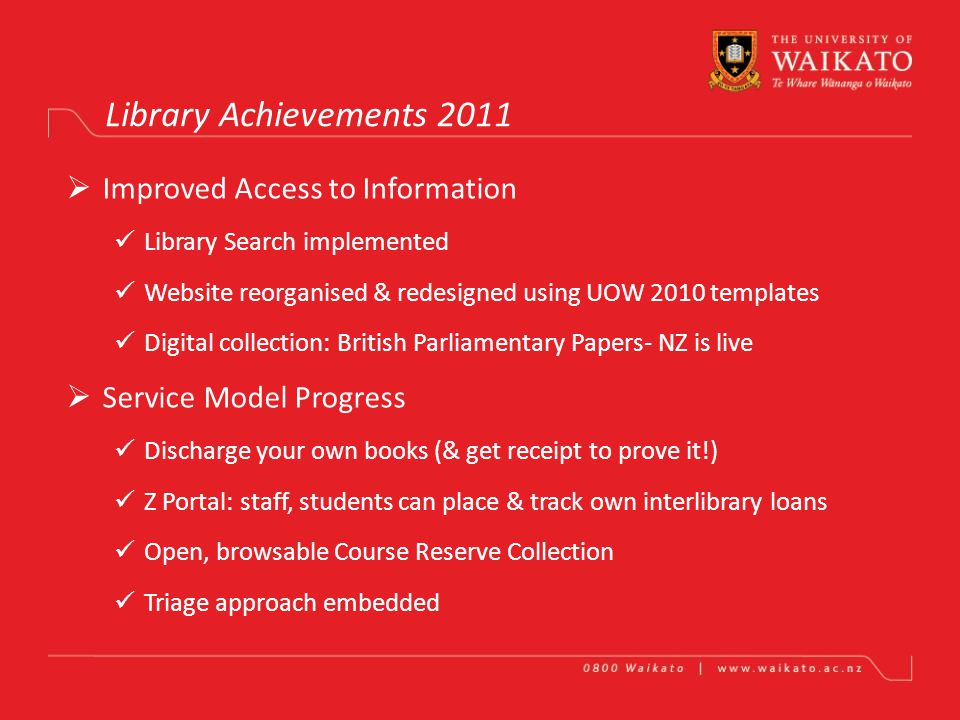 Library Vye Perrone & Rae Gendall Achievements in One