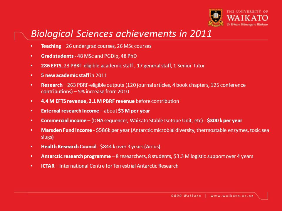 BIOLOGICAL SCIENCES FSEN Brendan Hicks, COD23 Nov 2010, COD Forum Achievements of Biological Sciences in 2011