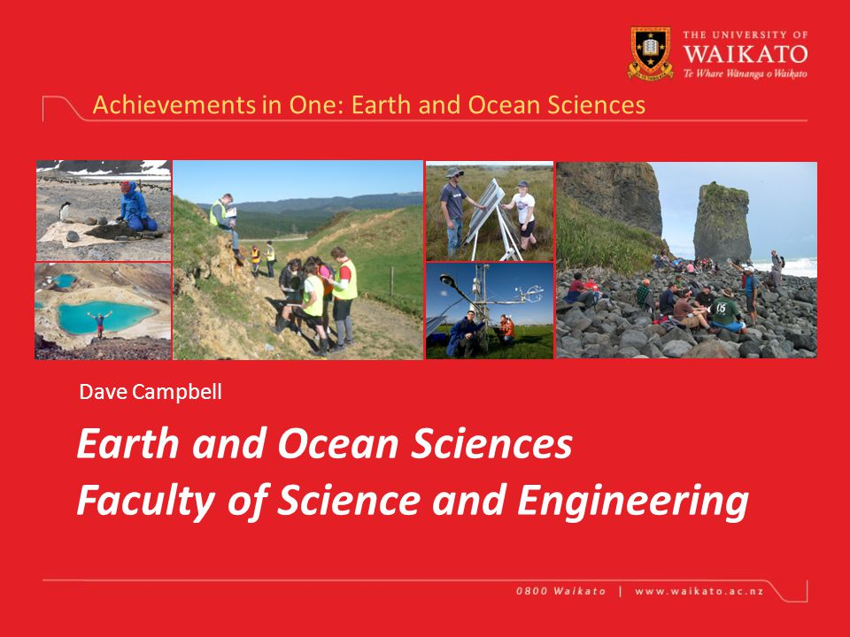Biological Sciences achievements in 2011 Teaching – 26 undergrad courses, 26 MSc courses Grad students - 48 MSc and PGDip, 48 PhD 286 EFTS, 23 PBRF-eligible academic staff, 17 general staff, 1 Senior Tutor 5 new academic staff in 2011 Research – 263 PBRF-eligible outputs (120 journal articles, 4 book chapters, 125 conference contributions) – 5% increase from 2010 4.4 M EFTS revenue, 2.1 M PBRF revenue before contribution External research income – about $3 M per year Commercial income – (DNA sequencer, Waikato Stable Isotope Unit, etc) - $300 k per year Marsden Fund income - $586k per year (Antarctic microbial diversity, thermostable enzymes, toxic sea slugs) Health Research Council - $844 k over 3 years (Arcus) Antarctic research programme – 8 researchers, 8 students, $3.3 M logistic support over 4 years ICTAR – International Centre for Terrestrial Antarctic Research