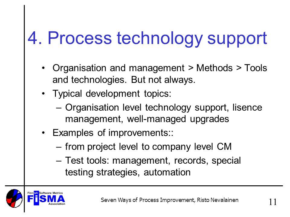Seven Ways of Process Improvement, Risto Nevalainen 11 4.