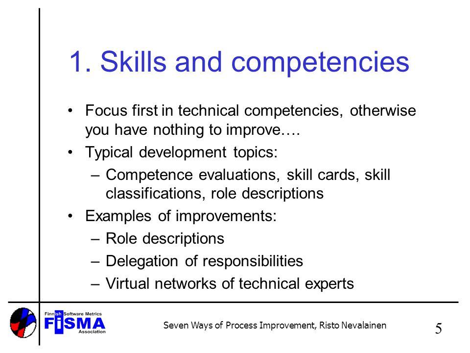 Seven Ways of Process Improvement, Risto Nevalainen 5 1.