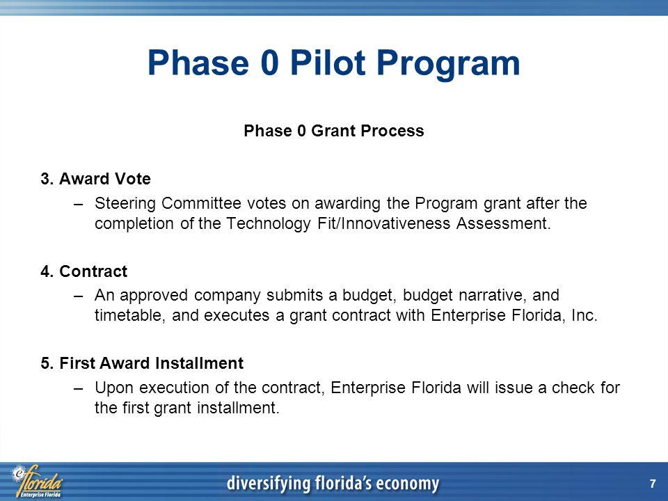 8 Phase 0 Pilot Program Phase 0 Grant Process 6.