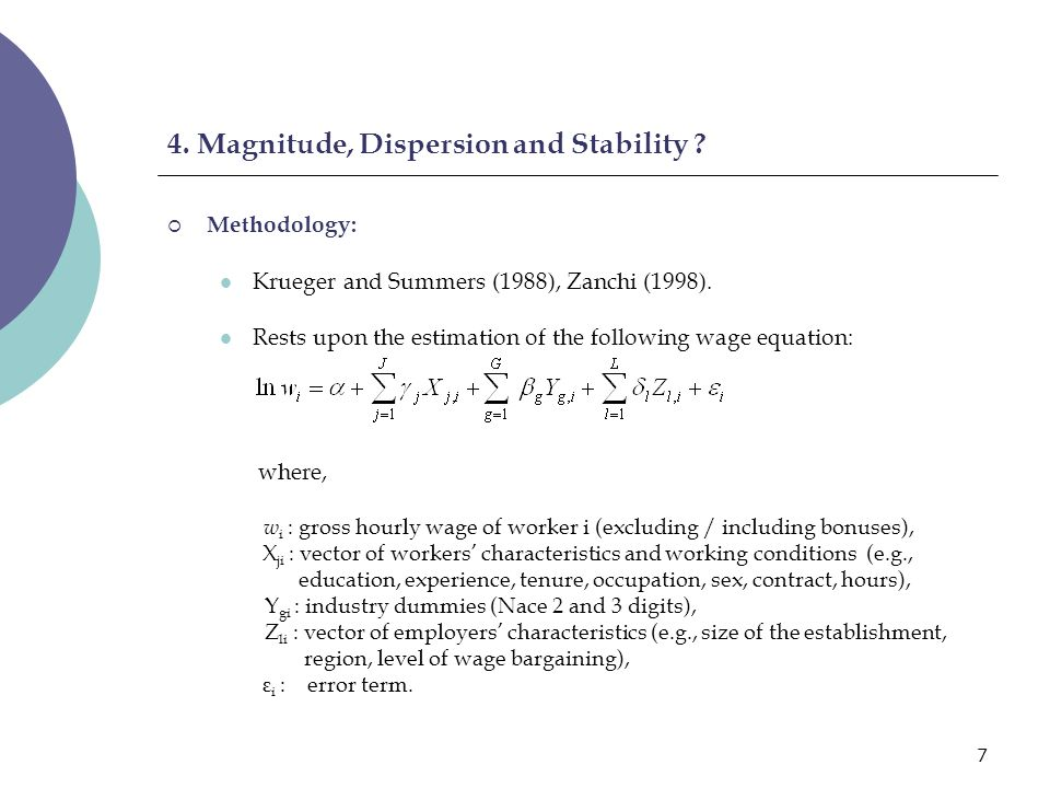 8 4.Magnitude, Dispersion and Stability .