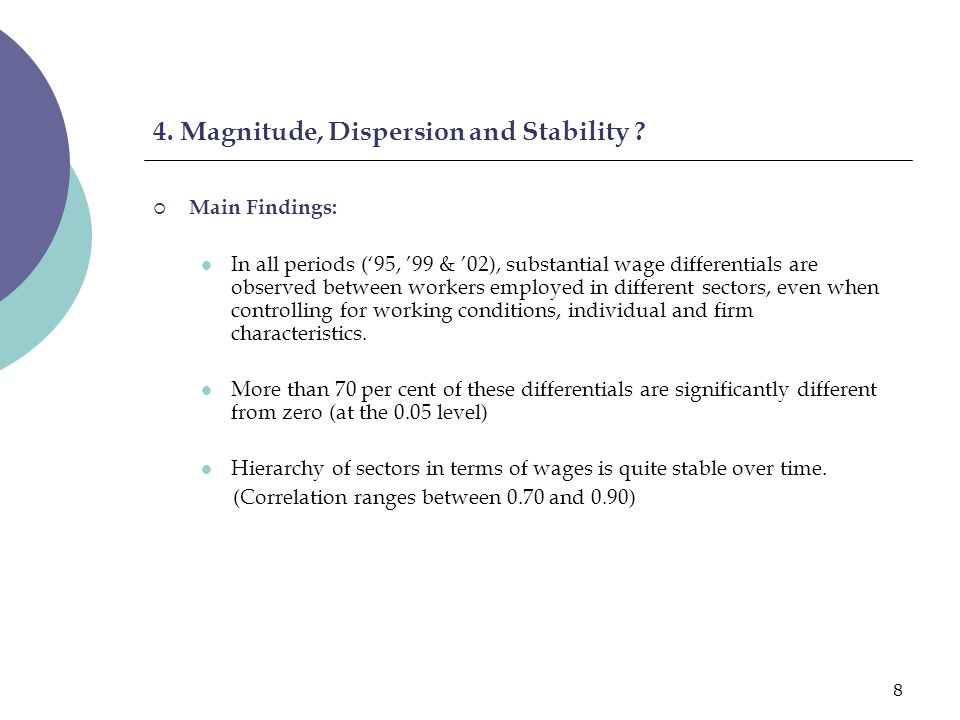 9 4.Magnitude, Dispersion and Stability .