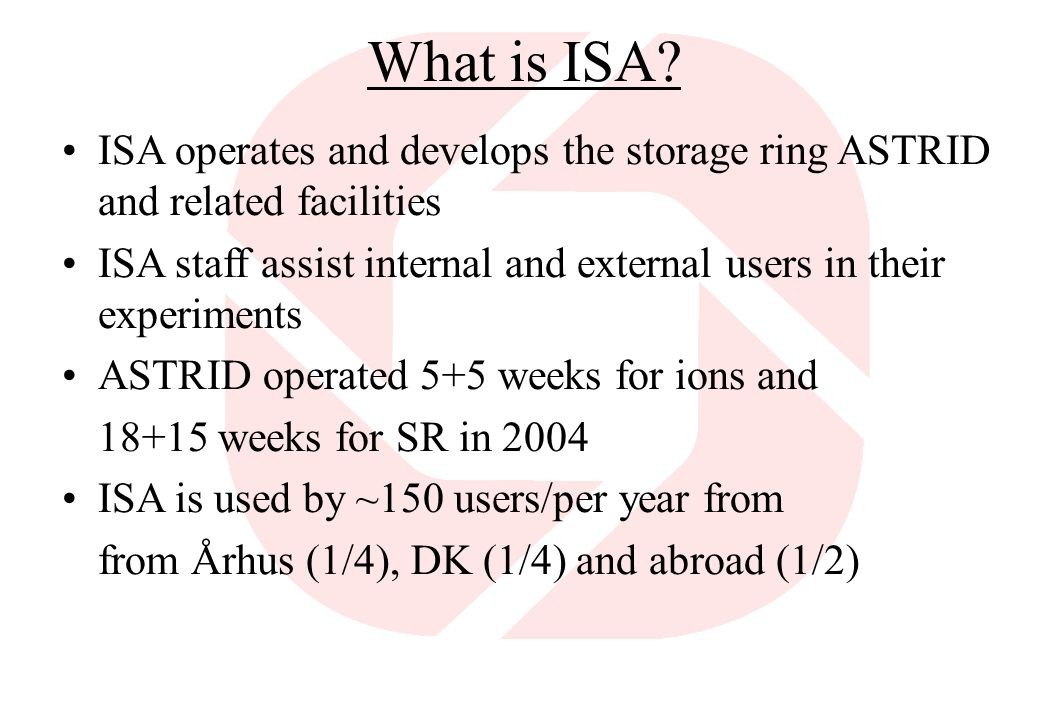 What is ISA.