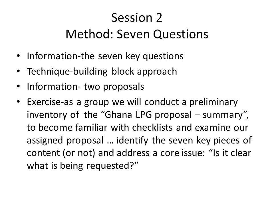 Session 8 – the base case Information Content-base case components Technique Content-template entry and review of basic assumptions Exercise: using supplied information practice data entry and understanding of base case inputs and outputs … conduct inventory of assigned proposal with this process in mind.