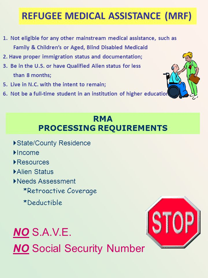REFUGEE MEDICAL ASSISTANCE All recipients of RCA automatically receive RMA. A refugee may apply for and receive RMA without applying for RCA. If RCA i