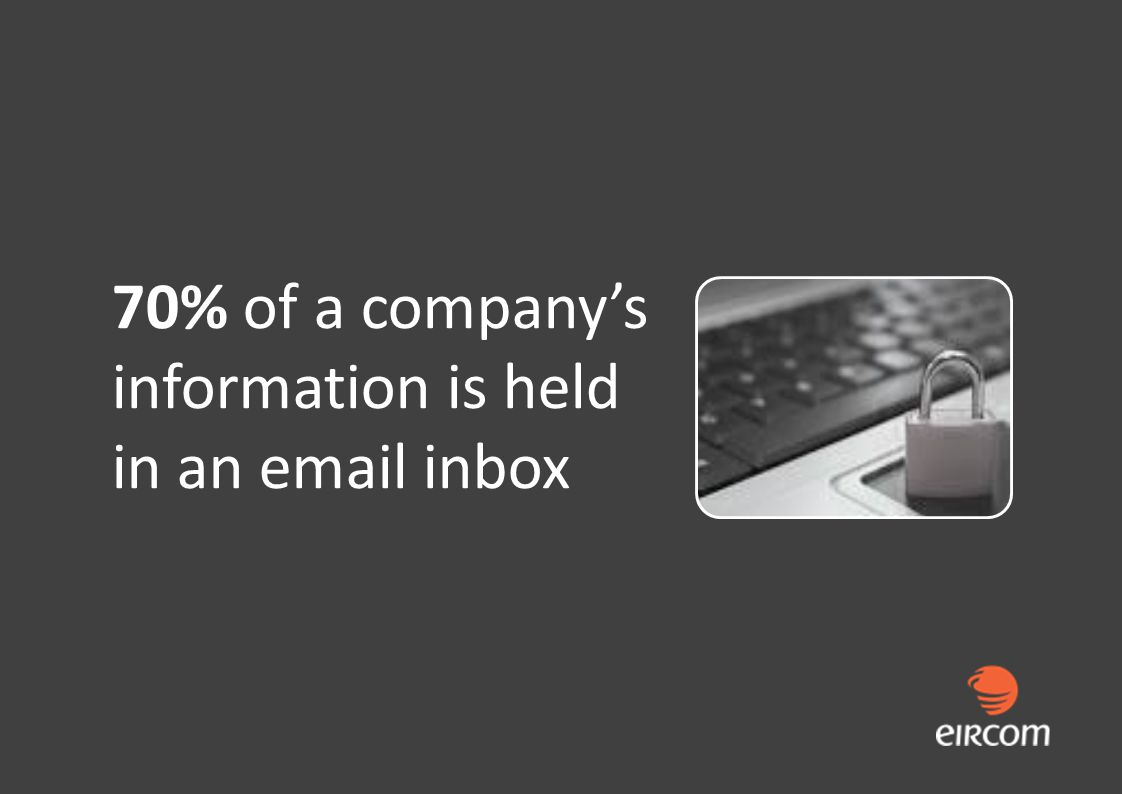 70% of a companys information is held in an email inbox