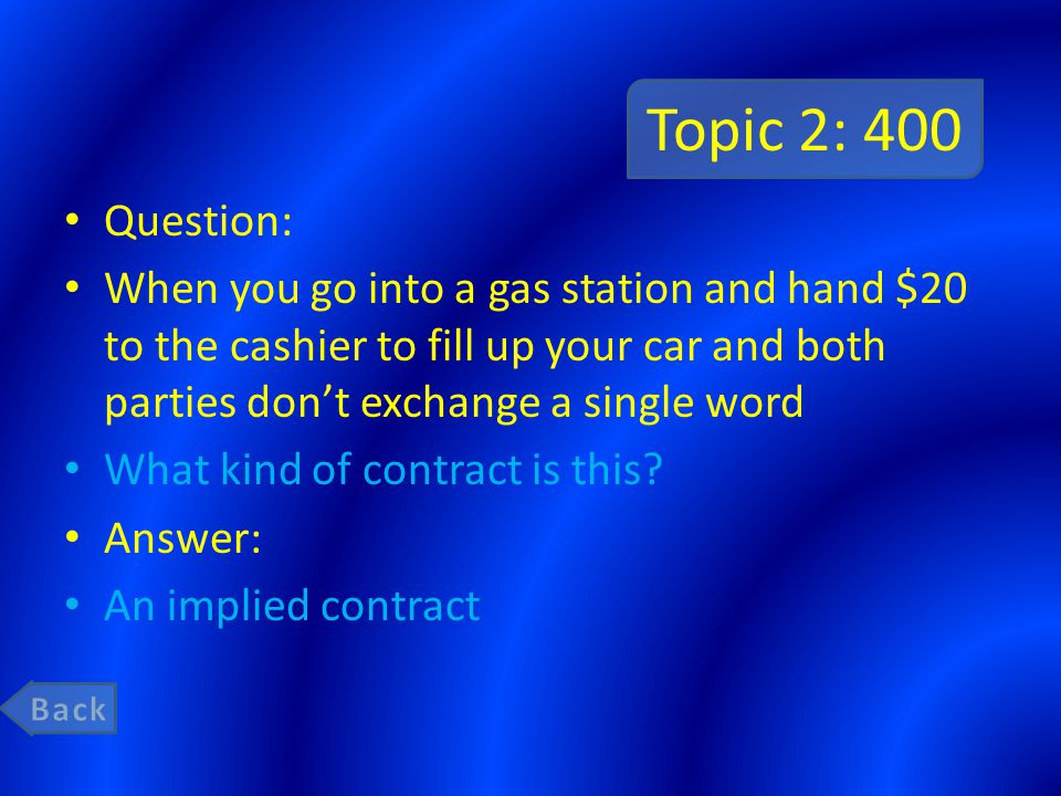 Topic 2: 200 Question: which contract is used more unilateral or bilateral.